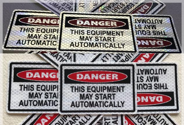 Danger Warning Nameplates
