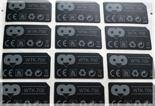 Matte Textured Polycarbonate Labels