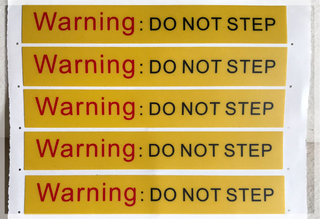 PVC Safety Labels
