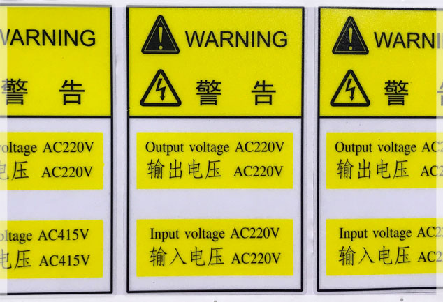 Polycarbonate Warning Labels