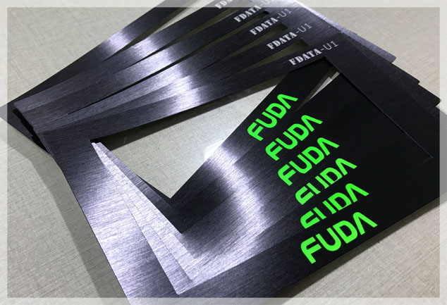 Screen Printed Brushed Polycarbonate Graphic Overlays